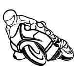 Jinete de la moto ilustración del vector