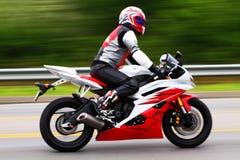 Jinete de la motocicleta Imagen de archivo libre de regalías