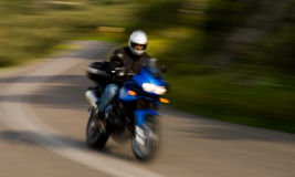Jinete de la motocicleta Fotografía de archivo