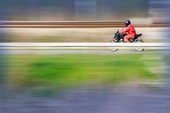 Jinete de la motocicleta Imagenes de archivo