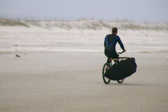 Jinete de la playa Fotografía de archivo libre de regalías