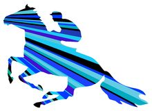 Jinete del caballo ilustración del vector