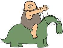 Jinete del dinosaurio Imagen de archivo libre de regalías