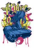 Jinete del dragón ilustración del vector