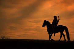 Jinete del montar a caballo Fotos de archivo libres de regalías