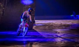 Jinete del truco de la moto, International 2016 de Autosport Foto de archivo libre de regalías