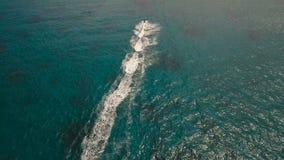 Jinete en el esquí del jet Isla Filipinas de Boracay almacen de video