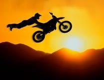 Jinete extremo del motocrós Fotos de archivo libres de regalías