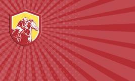 Jinete Horse Racing Shield de la tarjeta de visita retro libre illustration