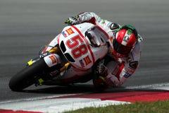 Jinete italiano Marco Simoncelli de MotoGP Imagen de archivo libre de regalías