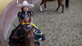 Jinete joven mexicano del adelita imagen de archivo libre de regalías