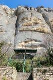 Jinete medieval de Madara del alivio de la roca a partir del período de primer imperio búlgaro, lista del patrimonio mundial de l imagen de archivo