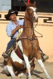 Jinete mexicano de los charros en el caballo que se sienta, TX, los E.E.U.U. Fotos de archivo