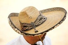 Jinete mexicano en un sombrero, TX, los E.E.U.U. de los charros Imagen de archivo