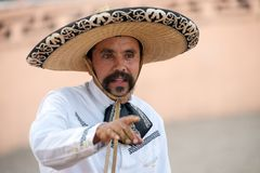 Jinete mexicano en un sombrero, TX, los E.E.U.U. de los charros Fotos de archivo libres de regalías