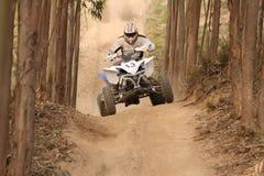 Jinete Moto4 Foto de archivo