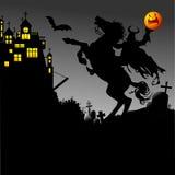 Jinete y Halloween Fotografía de archivo