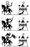 Jinetes ilustración del vector