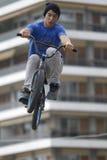Jinetes de BMX Imagenes de archivo