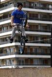 Jinetes de BMX Fotografía de archivo libre de regalías