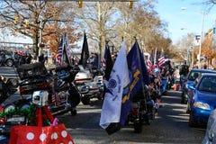 Jinetes de la libertad antes del desfile Fotos de archivo