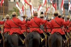 Jinetes de RCMP Fotos de archivo