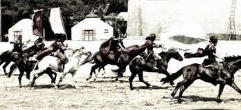 Jinetes del caballo Fotos de archivo