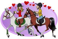 Jinetes en amor Imagen de archivo libre de regalías