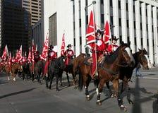 Jinetes en desfile común occidental nacional de la demostración Imagen de archivo