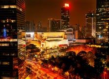 Jing constructions Changhaï Chine d'une rue de Nanjing de stationnement de temple Photo stock