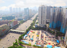 Jing Dian Ju Apartment near road Stock Image