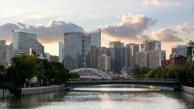 Jing ` een district, Suzhou-Kreek, Shanghai Stock Foto's