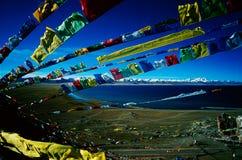 Jing Gebläse, Nam-Co und NianQing Berg Stockfotografie
