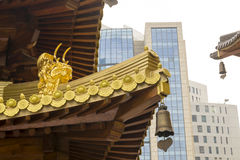 Jing An Golden Dragon Detail stockbilder