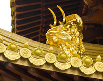 Jing An Golden Dragon Detail Stock Photo