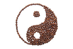 Jing jang of coffee Royalty Free Stock Images