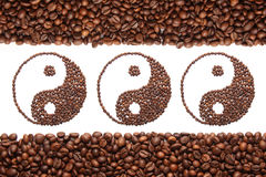 Jing jang of coffee Royalty Free Stock Image