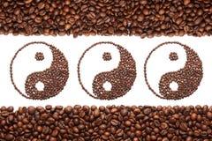 Jing-jang des Kaffees Lizenzfreies Stockbild