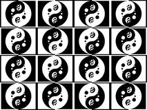 Jing jang pattern Royalty Free Stock Photography