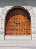 jing tempel för dörrhandtag arkivfoto