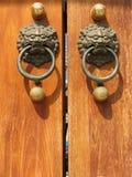 jing tempel för dörrhandtag royaltyfri bild