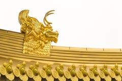 Jing An Temple Golden Dragon Heads Royalty Free Stock Photos