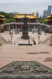 Jing'an Temple Shangai Imágenes de archivo libres de regalías