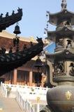 Jing An Temple Shanghai China de oro Fotos de archivo