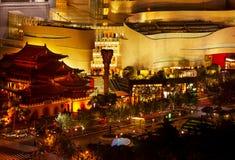 Jing une rue Changhaï Chine de Nanjing de stationnement de temple Image stock
