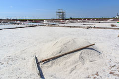 Jing-Zai-Jiao Плитк-вымостил поля соли в Tainan стоковое фото