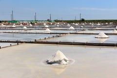 Jing-Zai-Jiao Tile-Paved Salt Fields in Tainan. Taiwan Stock Image