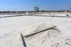 Jing-Zai-Jiao Tile-Paved Salt Fields in Tainan. Taiwan Stock Photo