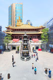 Jingan buddhist temple Royalty Free Stock Images