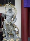 Jingang - en kinesisk gud det bevaka templet Arkivbilder